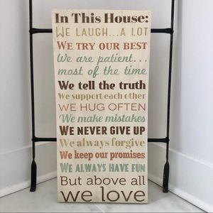 Other - House Rules Canvas Sign